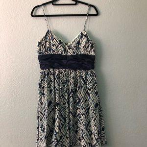 Anthropologie Silk Strap Dress